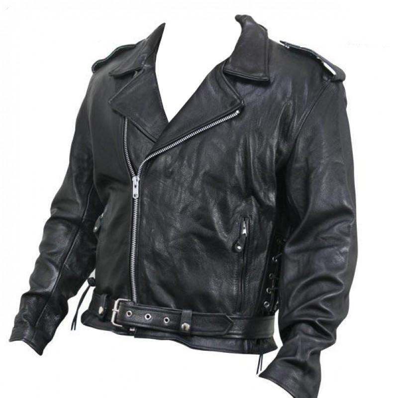 Classic leather motorcycle jackets for men