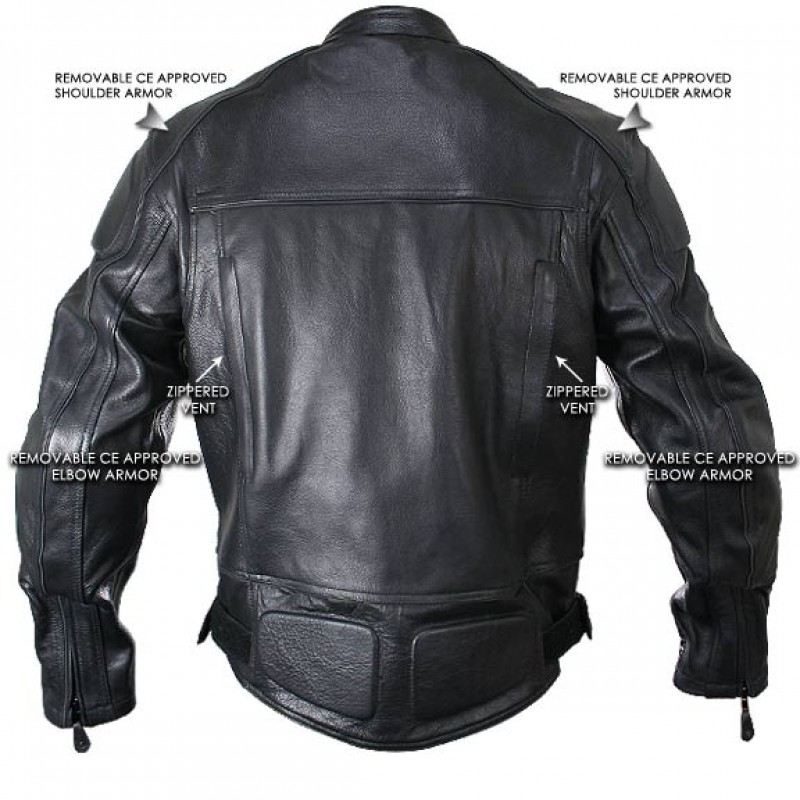 Leather motorcycle jackets with armor