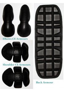 CE Approved Replacement Level-3 Motorcycle Advanced Armour