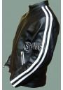 Vertigo - White Striped Leather Jacket