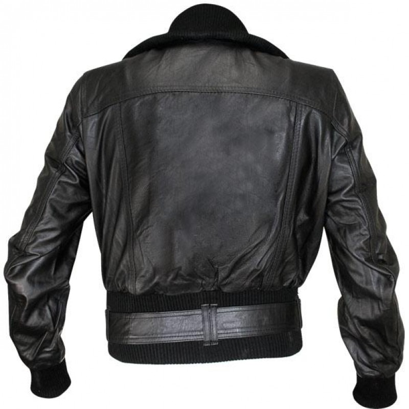 f22f1029205 Ladies Lambskin Classic Fitted Bomber Jacket