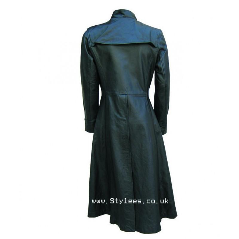 31c71e64abc Neo Matrix Black Gothic Style Men's Leather Coat