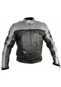 Men's Black and Grey Motorcycle Jacket