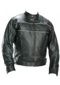Classic Men's Black Racer Motorcycle Jacket