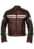 Roma Vintage Brown Cruiser Mens Biker Leather Jacket