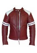Fight Club Mayhem Red Leather Jacket