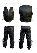 Side Lace Leather Vest and Pants