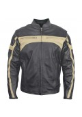 Men's Classic Armored Leather Motorcycle Jacket