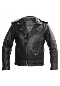 Antique Brando Thick Naked Cowhide Biker Leather Jacket