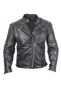 Armored Leather Motorcycle Jacket