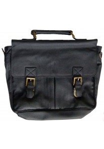 Black Double Clasp (With Buckles) Premium Leather Briefcase