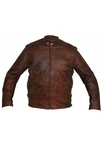 Brown Classic Racer Leather Jacket