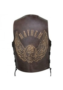 Brown Flying Skull Cruiser Vest Waistcoat