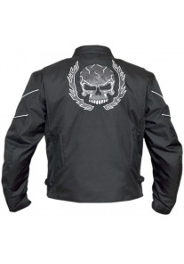 Flaming skull Textile Motorcycle Jacket
