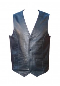 Harley Style Classic Motorcycle Leather Waistcoat