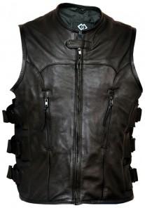 Premium Leather Motorcycle Vest