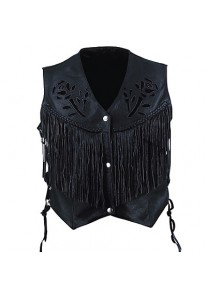 Ladies Black Rose Vest