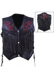 Ladies Red Rose Vest