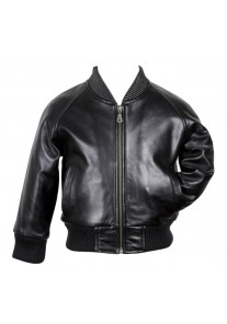 Premium Soft Lambskin Bomber Leather Jacket Size S