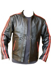 Vertigo - Red Striped Leather Jacket