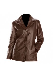Choco-Brown Womens Fashion Leather Blazer