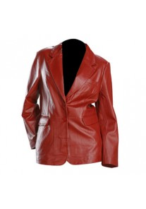 Red Blazer Style Womens Fashion Leather Jacket