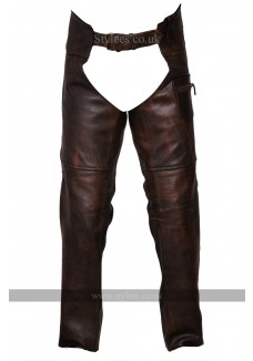 Vintage Brown Classic Motorcycle Horse Riding Unisex Leather Chaps