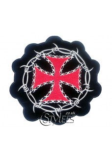 Barbed wire & Iron Cross Patch