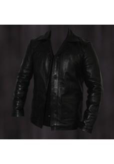 Brad Pitt Fight Club Black Leather Jacket