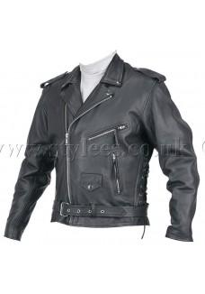 Cheap Cowhide Split Brando Leather Jacket
