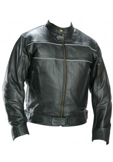 Classic Men's Black Racer Motorcycle Jacket