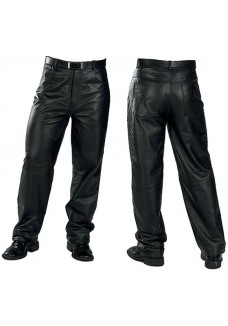 Classic Loose Fit Men's Leather Trousers