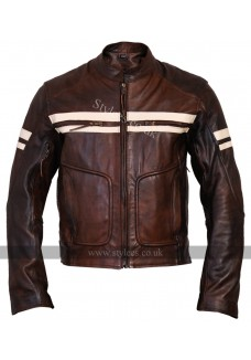 Roma Vintage Brown Cruiser Mens Biker Leather Jacket