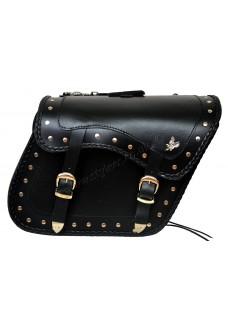 Zip-Off Eagle Motorcycle Leather Saddle Bag