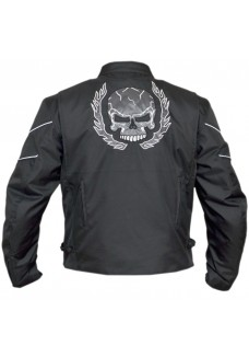 Flaming skull Textile Motorcycle Jacket