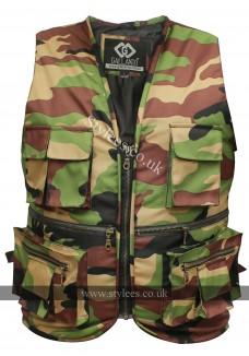 Camouflage Fishermen Multi-pocket Biker Waistcoat