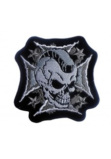 Skull on Iron Cross Large Patch