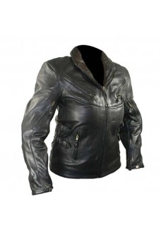 Ladies Classic Vented Armored Cowhide Leather Jacket