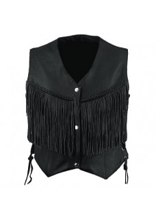 Ladies Fringed Vest