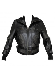 Ladies Lambskin Classic Fitted Bomber Jacket