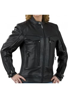 Ladies Vented Black Naked Cowhide Leather