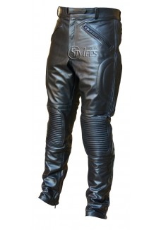 Limo Padded Biker Leather Trousers