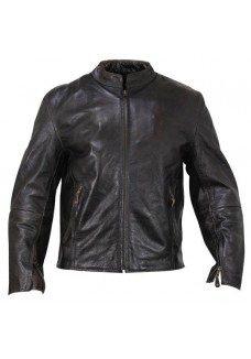 Lone Rider Retro Brown Armored Motorcycle Jacket