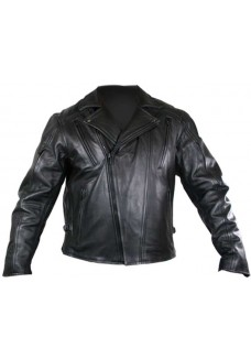 Men's Zipper-Side Motorcycle Cruiser Jacket
