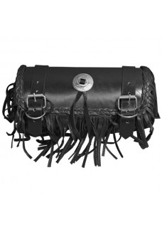 Small Leather Fringed Tool Bag