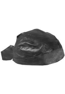 Plain Black Leather Head wrap