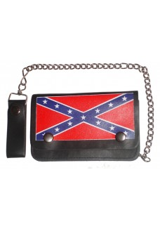 "Rebel Flag 4"" Chain Wallet"