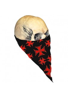 Red Ironcross Neck Warmer (Textile)