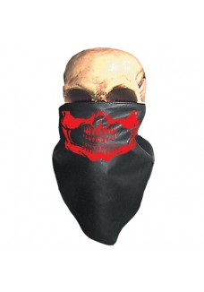 Red Skull Neck Warmer (Leather)