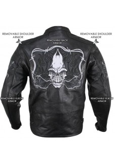Flaming Skulls Cruiser Armored Motorcycle Jacket
